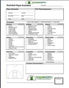 Basketball Tryout Form